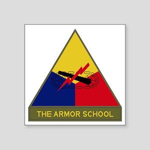 """The Armor School Square Sticker 3"""" x 3"""""""