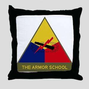 The Armor School Throw Pillow