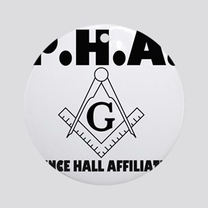 PHA-w-mason Round Ornament