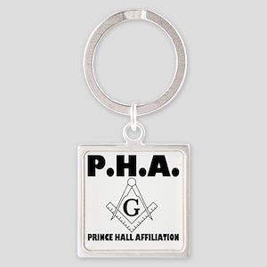 PHA-w-mason Square Keychain