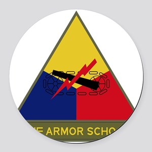 The Armor School Round Car Magnet