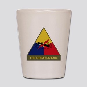 The Armor School Shot Glass