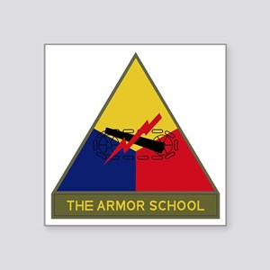 "The Armor School Square Sticker 3"" x 3"""