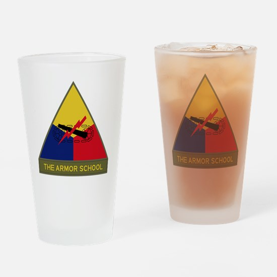 The Armor School Drinking Glass