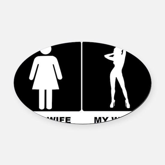 WIFEY Oval Car Magnet
