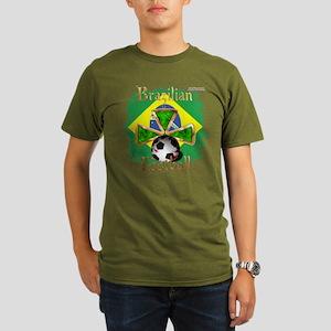 Brazil Football Spice Organic Men's T(dark)