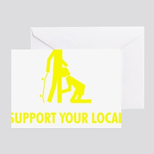 support_yellow Greeting Card