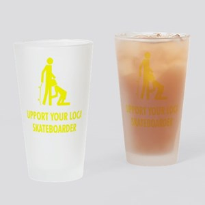 support_yellow Drinking Glass