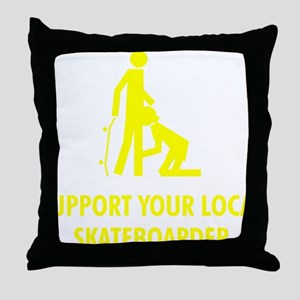 support_yellow Throw Pillow