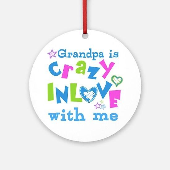 Grandpa Loves Me Ornament (Round)