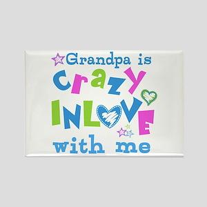 Grandpa Loves Me Rectangle Magnet