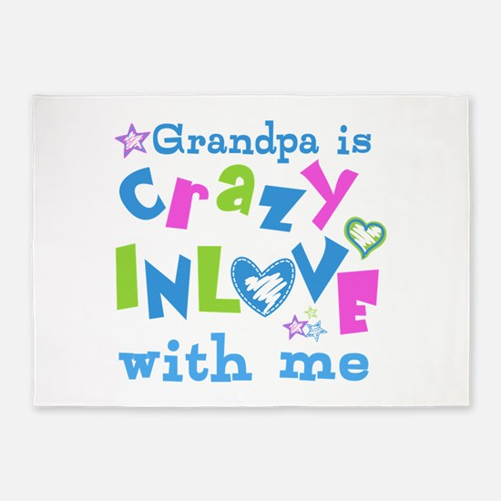 Grandpa Loves Me 5'x7'Area Rug