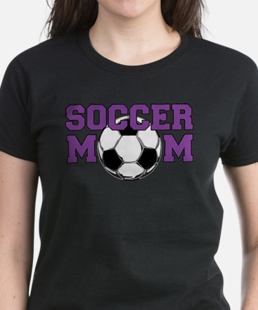 SOCCER Mom in Purple T-Shirt