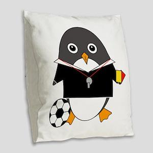 Refguin Burlap Throw Pillow