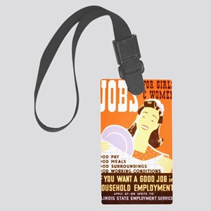 Jobs for Women Large Luggage Tag