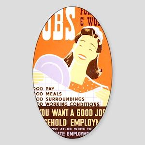Jobs for Women Sticker (Oval)