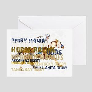 DERBY MANIA Greeting Card