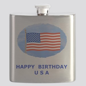 July 4th T-Shirts, US, American Flag Flask
