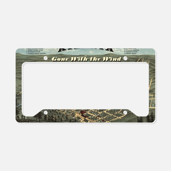 Atlanta of Gone with the Wind License Plate Holder