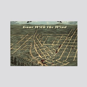 Atlanta of Gone with the Wind Rectangle Magnet