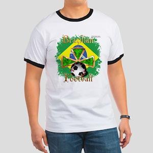 Brazil Football Spice Ringer T