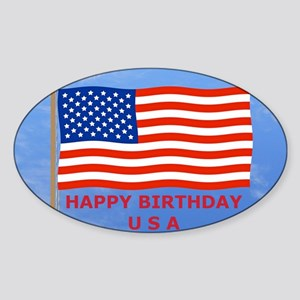 July 4 Rectangular Magnet, US, Amer Sticker (Oval)
