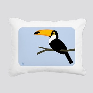 toucan Rectangular Canvas Pillow