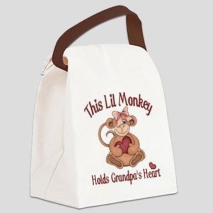 grandpa heart Canvas Lunch Bag
