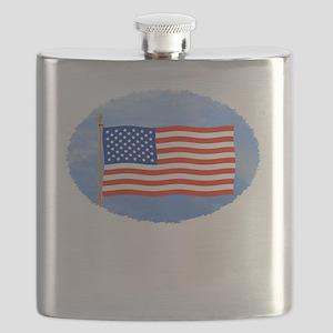 July 4 T-Shirts, US, American Flag Flask