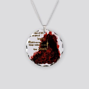 worse than death2 Necklace Circle Charm