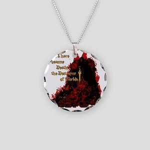 Death Destroyer shirt2 Necklace Circle Charm