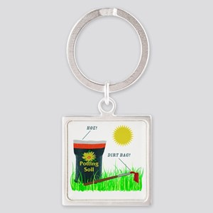 dirtbaghoe Square Keychain