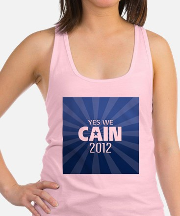 cain2012_04_button2yes Racerback Tank Top