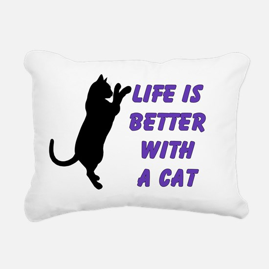 life is better with a ca Rectangular Canvas Pillow