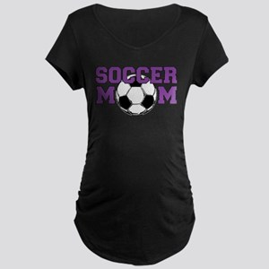 SOCCER Mom in Purple Maternity T-Shirt