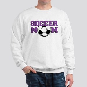 SOCCER Mom in Purple Sweatshirt