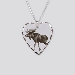 Moose-is-Loose-whtie Necklace Heart Charm
