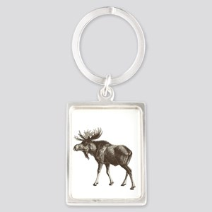 Moose-is-Loose-whtie Portrait Keychain
