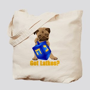 Got Latkes? Pug with Dreidel Tote Bag