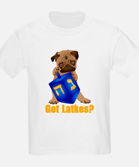 Got Latkes? Pug with Dreidel T-Shirt