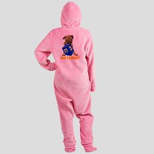 Got Latkes? Pug with Dreidel Footed Pajamas