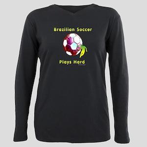 Brazil Soccer Sunball Plus Size Long Sleeve Tee