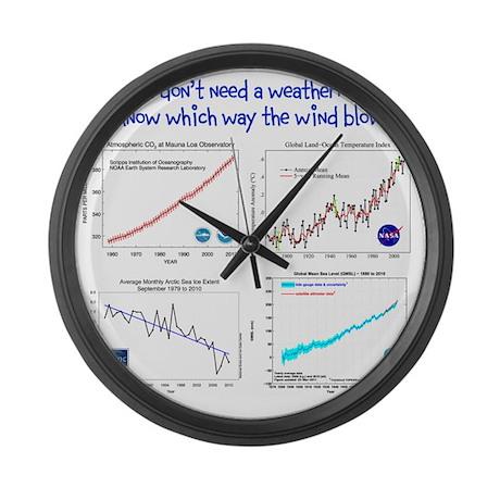 weatherman Large Wall Clock