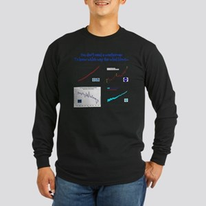 weatherman Long Sleeve Dark T-Shirt