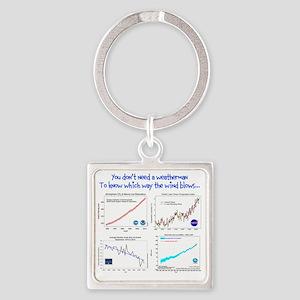 weatherman Square Keychain