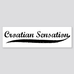 Croation Sensation Bumper Sticker