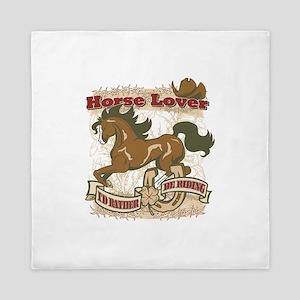 Horse Lover Queen Duvet