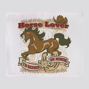 Horse Lover Throw Blanket