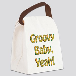 groovy baby Canvas Lunch Bag