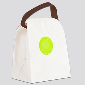 Tennis Court White Canvas Lunch Bag